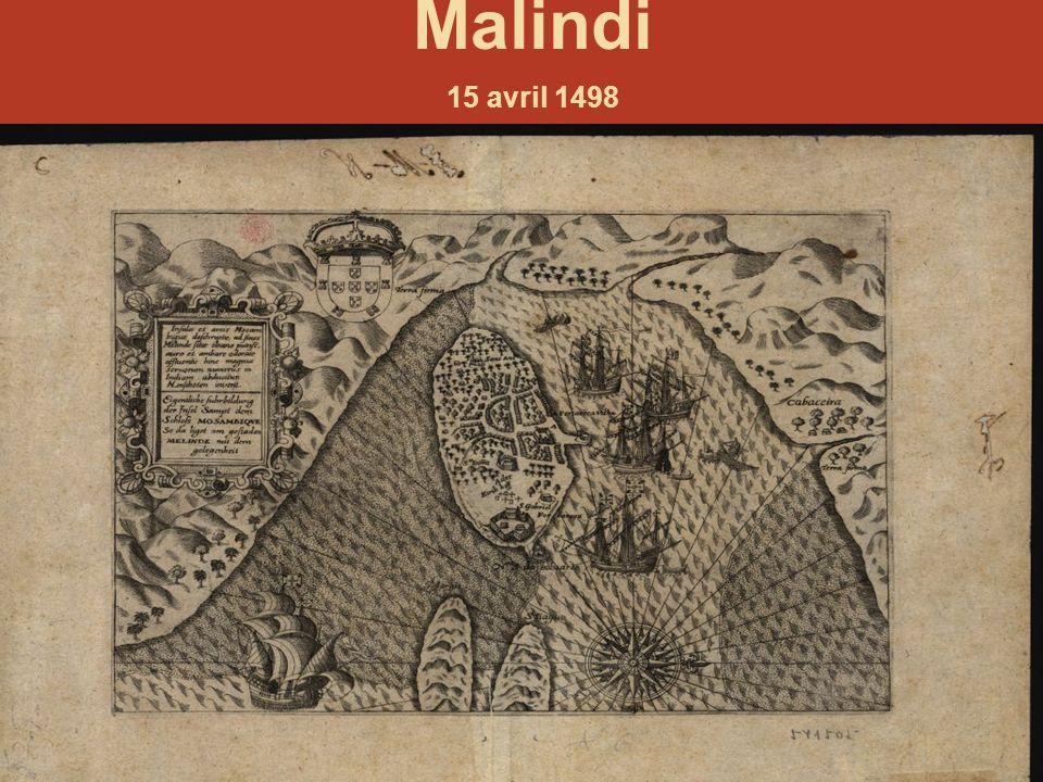 Malindi 15 avril 1498