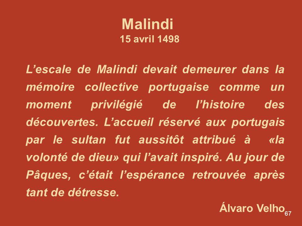 Malindi 15 avril 1498.