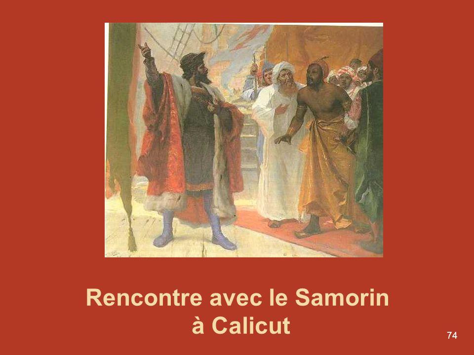Rencontre avec le Samorin à Calicut