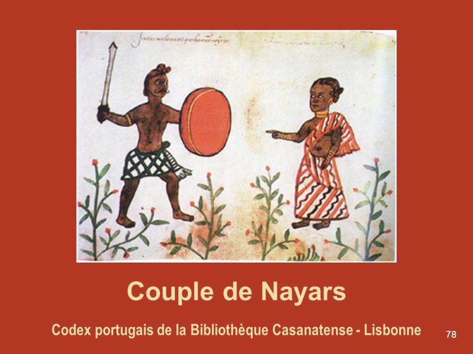 Couple de Nayars Codex portugais de la Bibliothèque Casanatense - Lisbonne