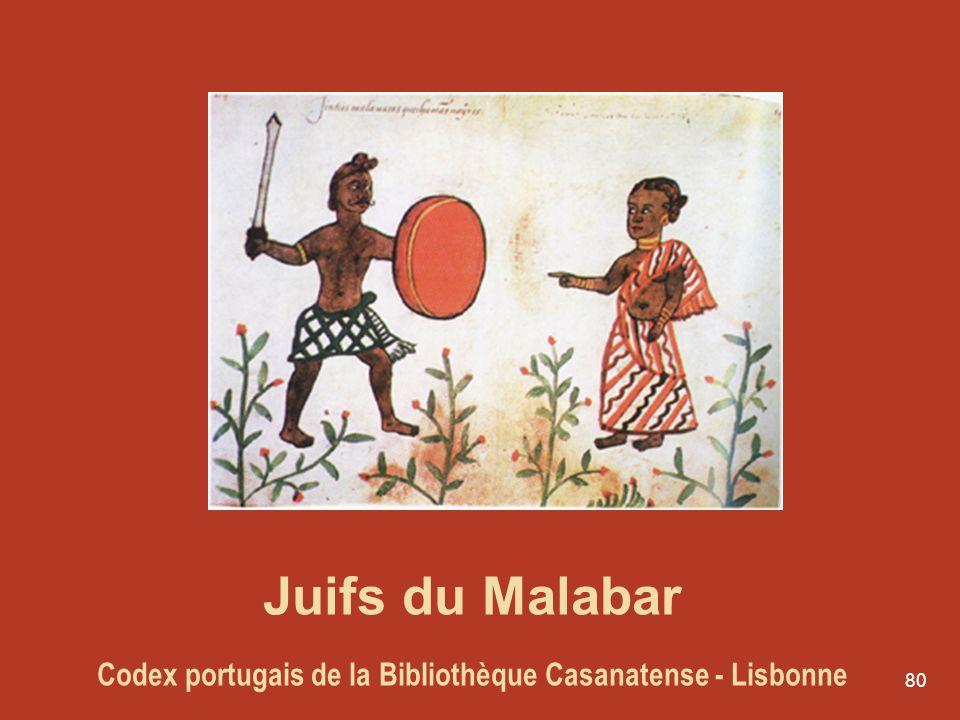 Juifs du Malabar Codex portugais de la Bibliothèque Casanatense - Lisbonne