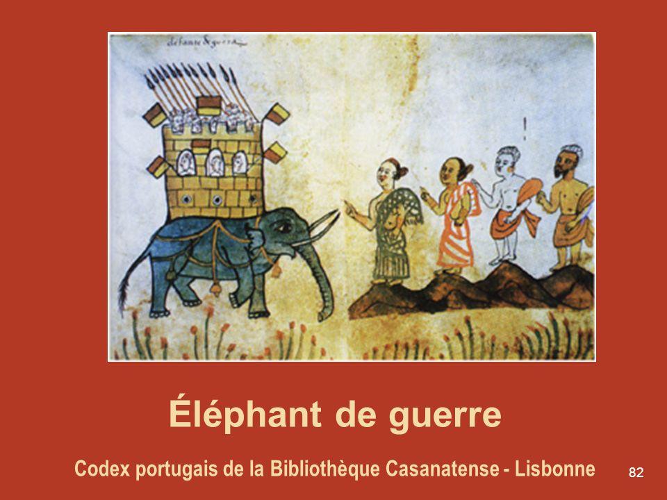Éléphant de guerre Codex portugais de la Bibliothèque Casanatense - Lisbonne