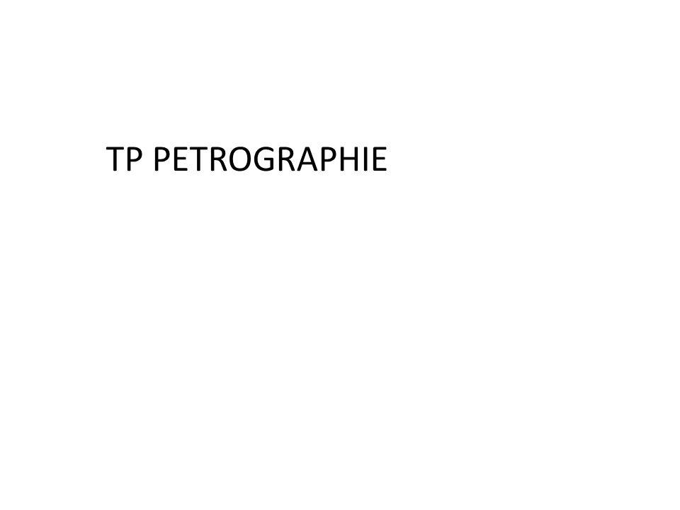 TP PETROGRAPHIE