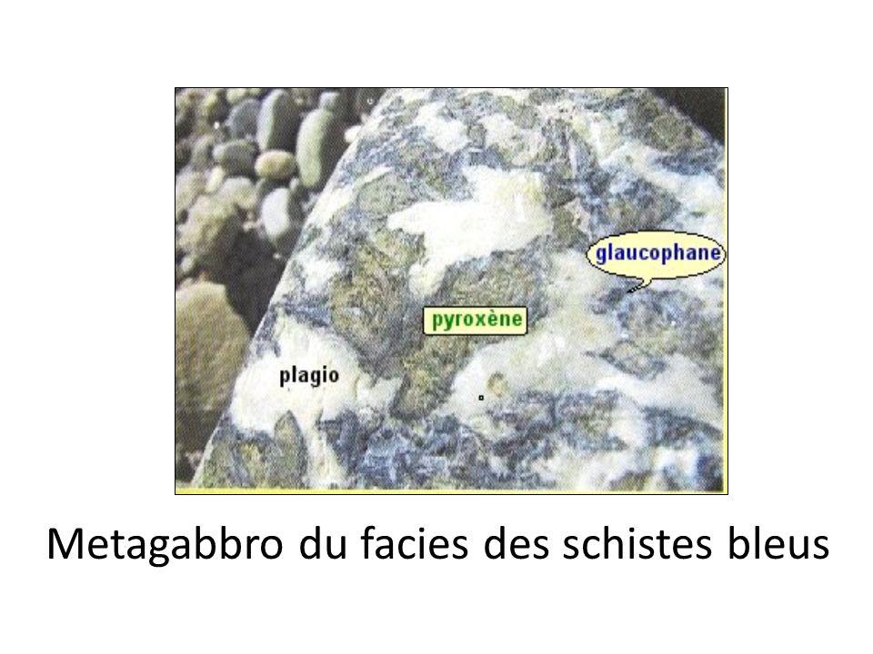 Metagabbro du facies des schistes bleus