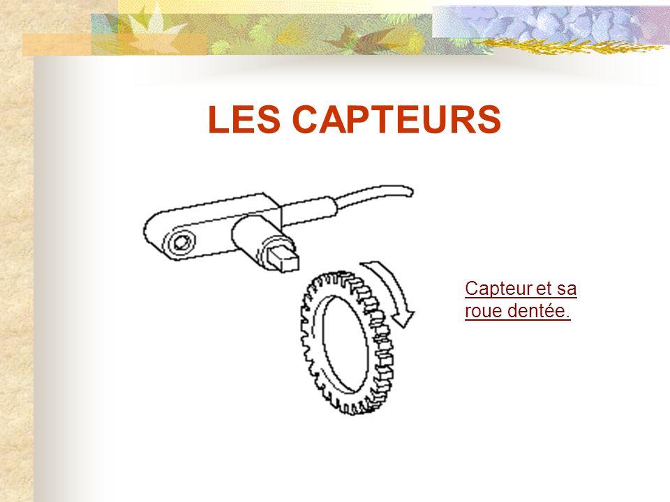 LES CAPTEURS Capteur et sa roue dentée.