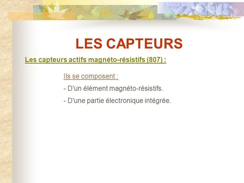 LES CAPTEURS Les capteurs actifs magnéto-résistifs (807) :