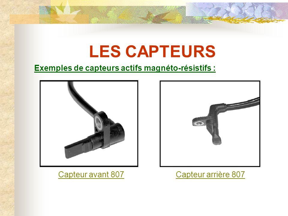 LES CAPTEURS Exemples de capteurs actifs magnéto-résistifs :