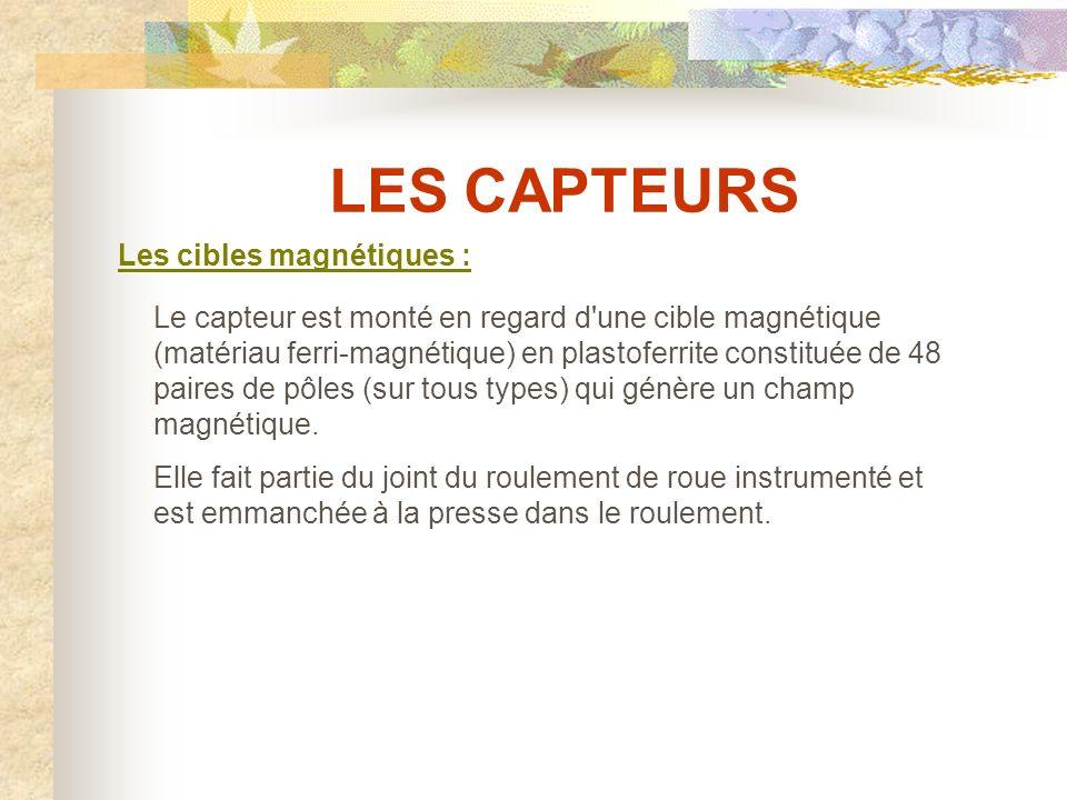 LES CAPTEURS Les cibles magnétiques :