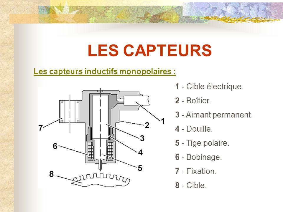 LES CAPTEURS Les capteurs inductifs monopolaires :