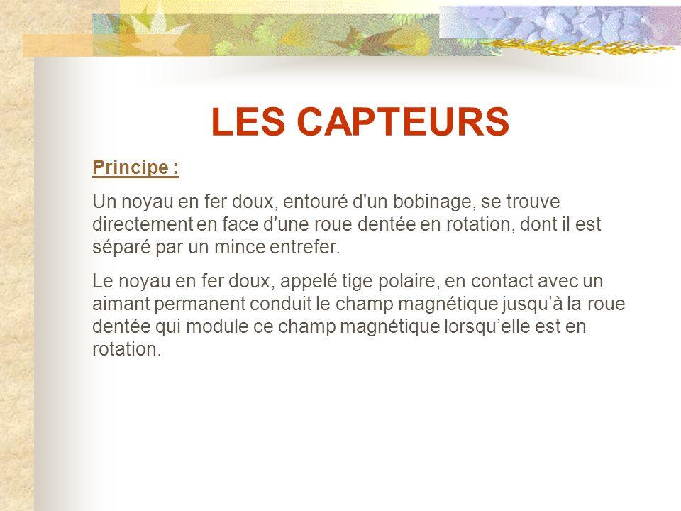 LES CAPTEURS Principe :