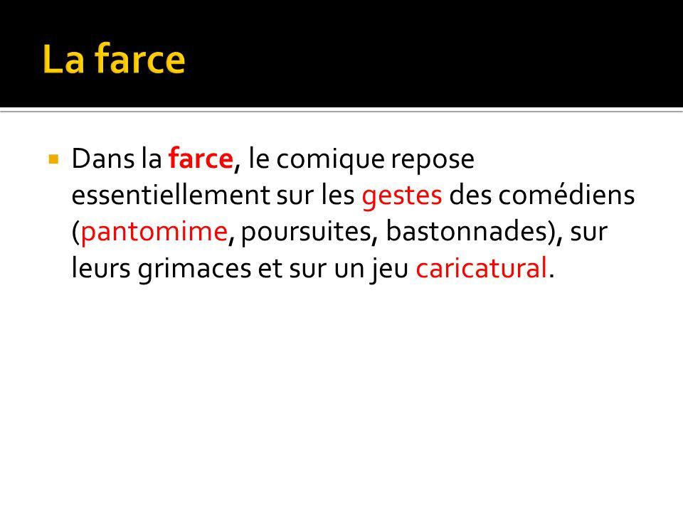 Le classicisme et le th tre ppt t l charger for Farcical pantomime