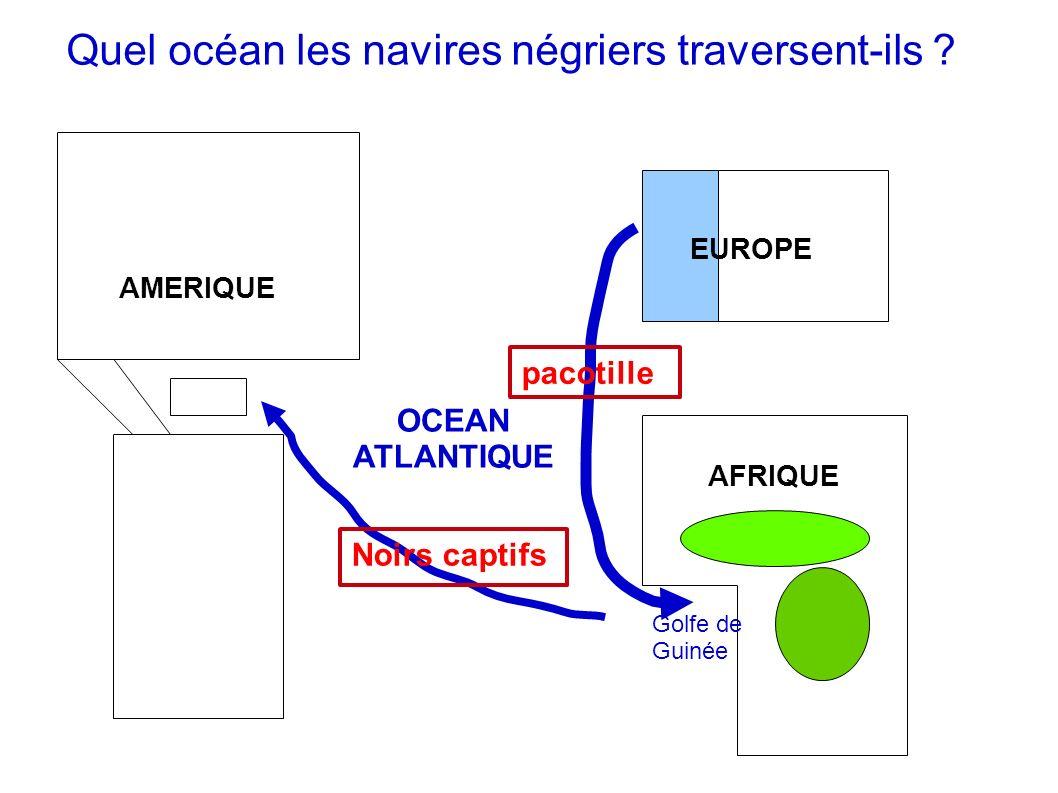 Quel océan les navires négriers traversent-ils