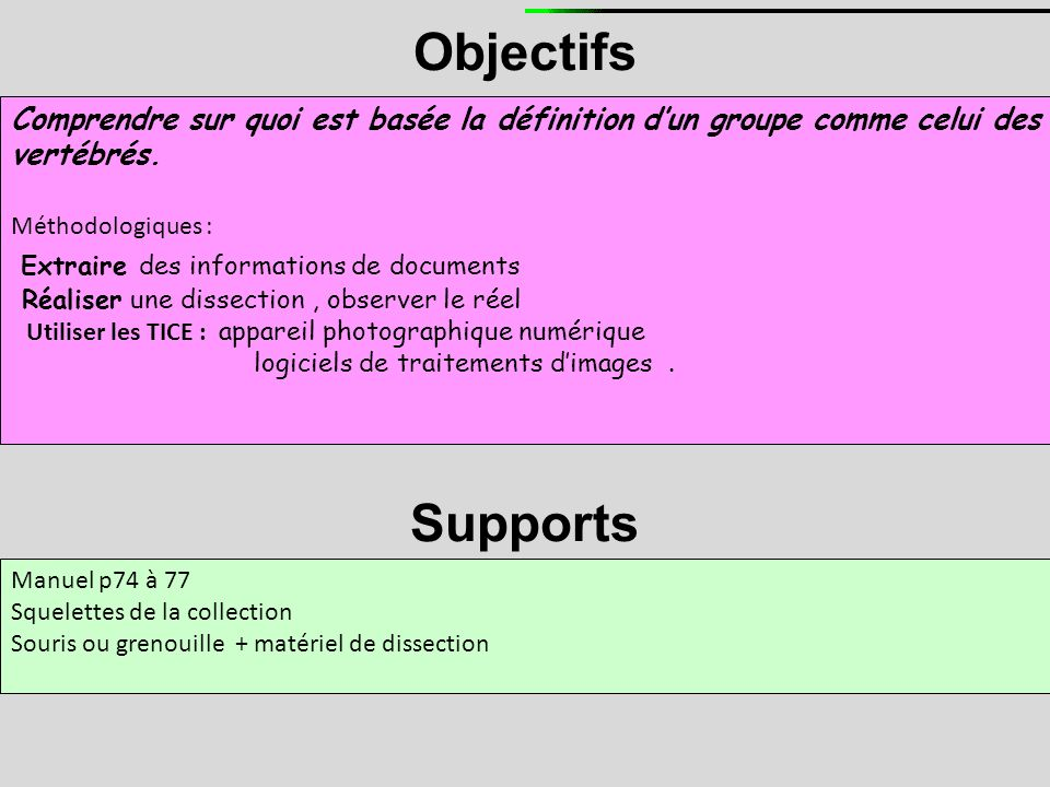 Objectifs Supports Extraire des informations de documents