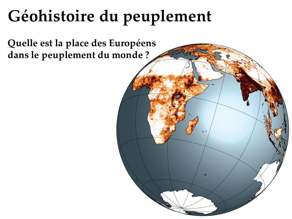 Géohistoire du peuplement