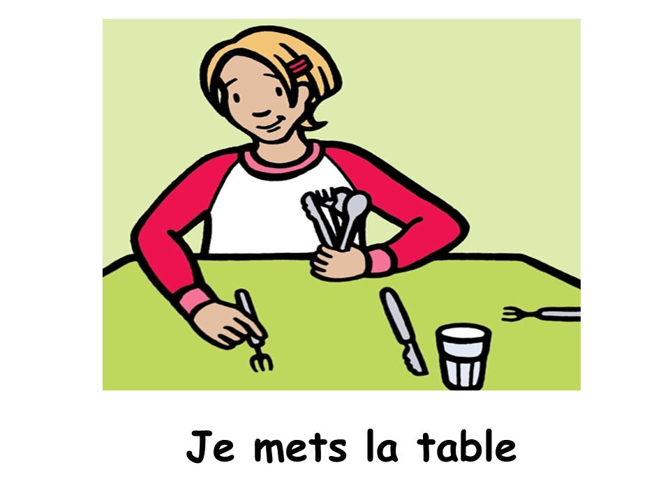 Mettre la table clip art pictures to pin on pinterest - Debarrasser la table en anglais ...