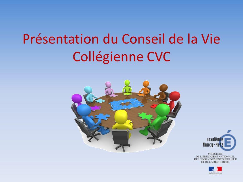 Présentation du Conseil de la Vie Collégienne CVC