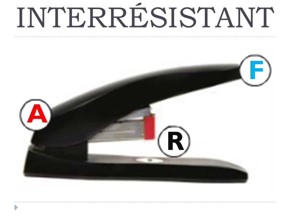 INTERRÉSISTANT F A R