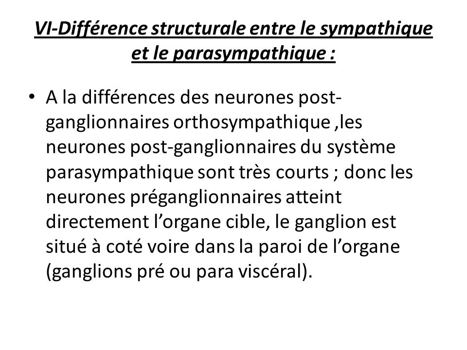 physiologie du syst me nerveux autonome pr sent par dr. Black Bedroom Furniture Sets. Home Design Ideas