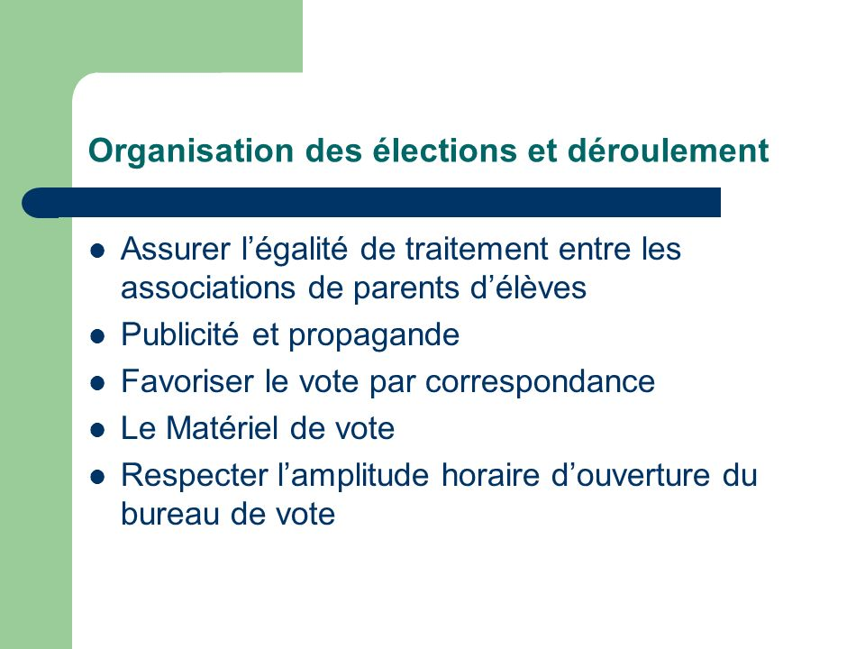 Elections des repr sentants des parents d l ves ppt t l charger - Organisation bureau de vote ...