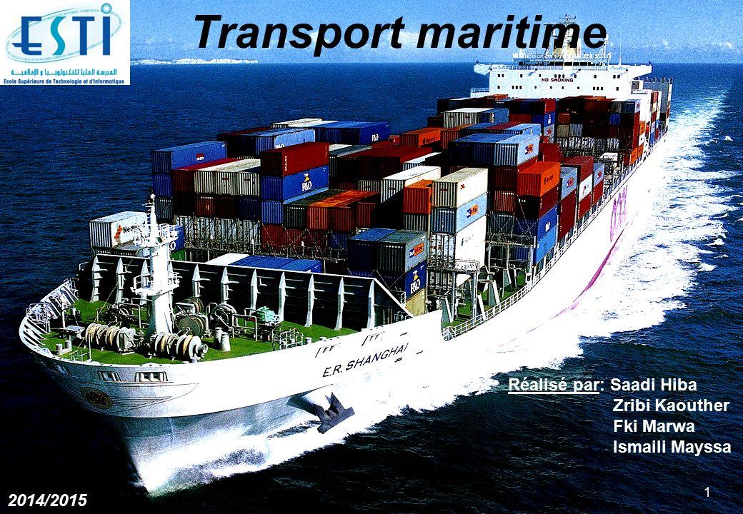 Transport maritime Réalisé par: Saadi Hiba Zribi Kaouther Fki Marwa