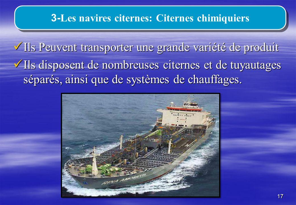3-Les navires citernes: Citernes chimiquiers
