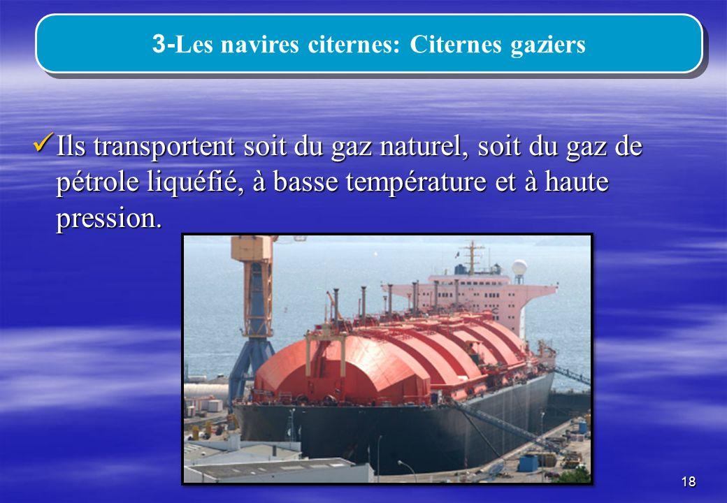 3-Les navires citernes: Citernes gaziers