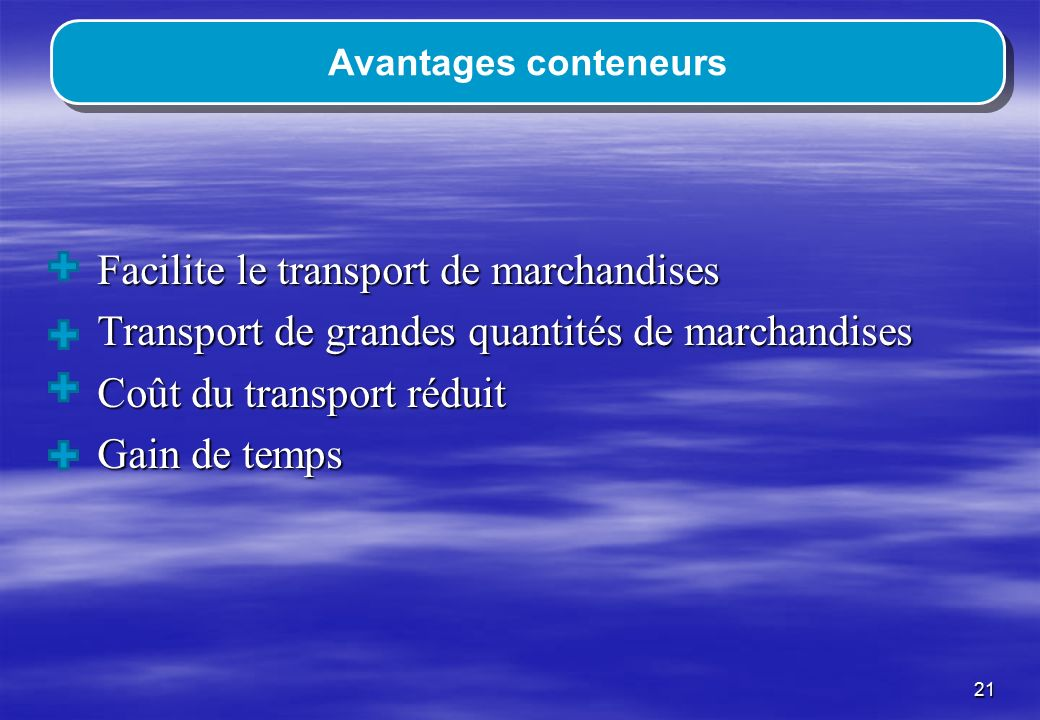 Facilite le transport de marchandises