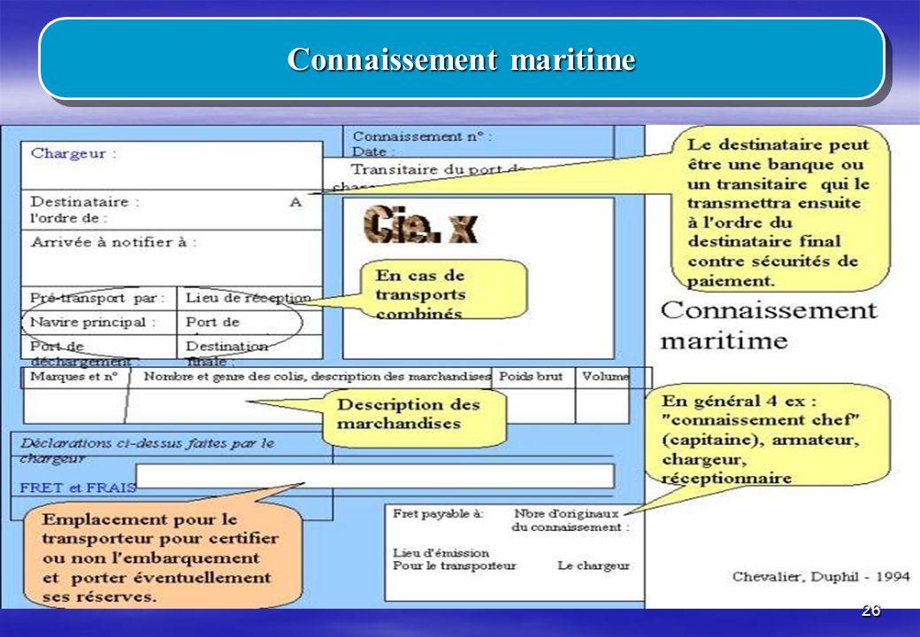 Connaissement maritime