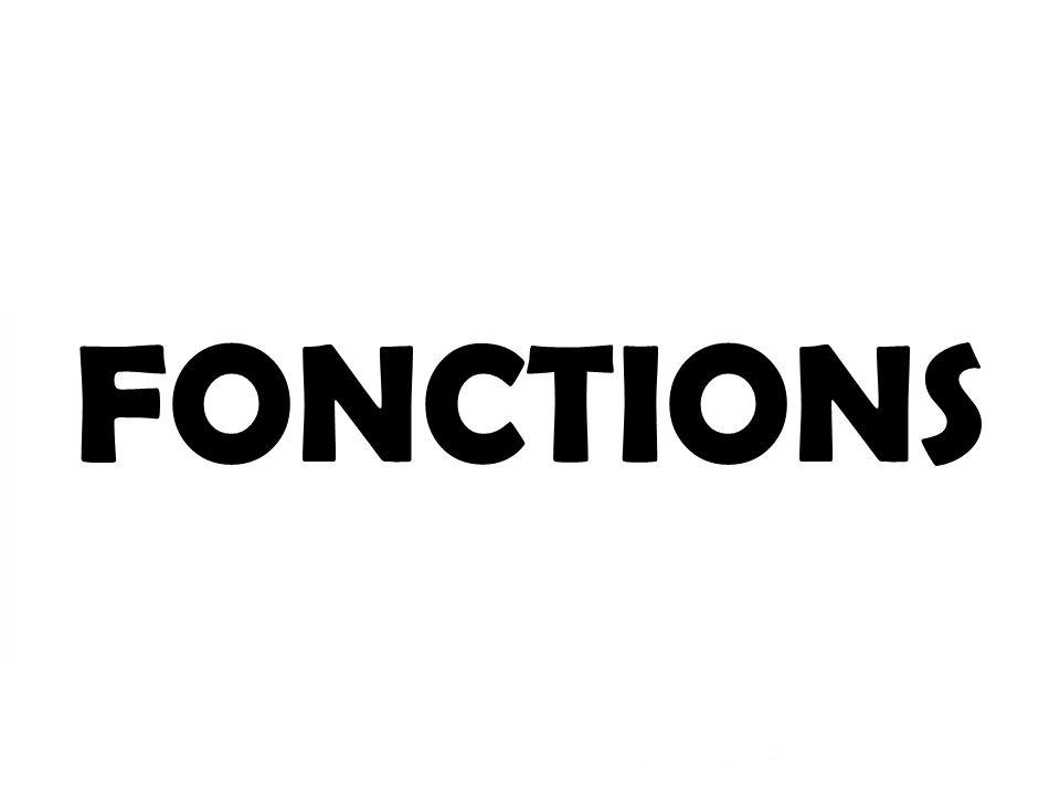 FONCTIONS Les fonctions 1- Soutien 2- Protection