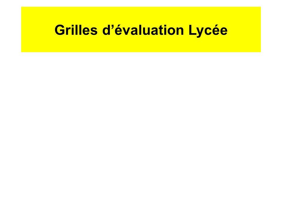 Grilles d'évaluation Lycée ppt télécharger