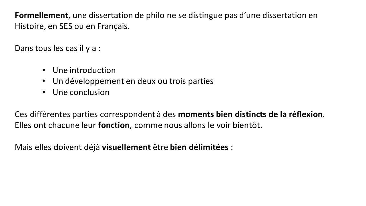 Dissertation en trois parties