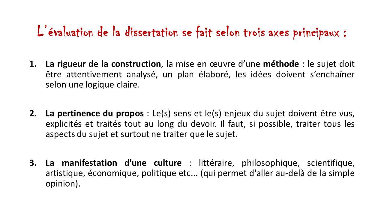 comment rediger une dissertation philosophique