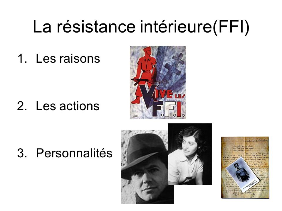 La france sous l occupation ppt video online t l charger for La resistance interieur