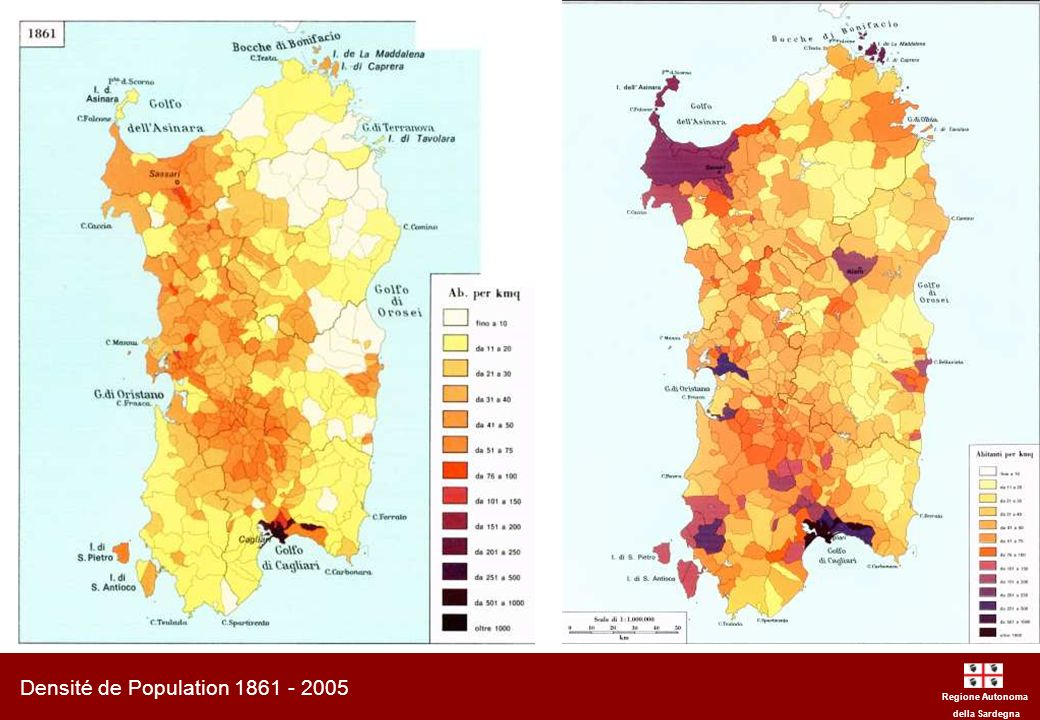 Densité de Population 1861 - 2005