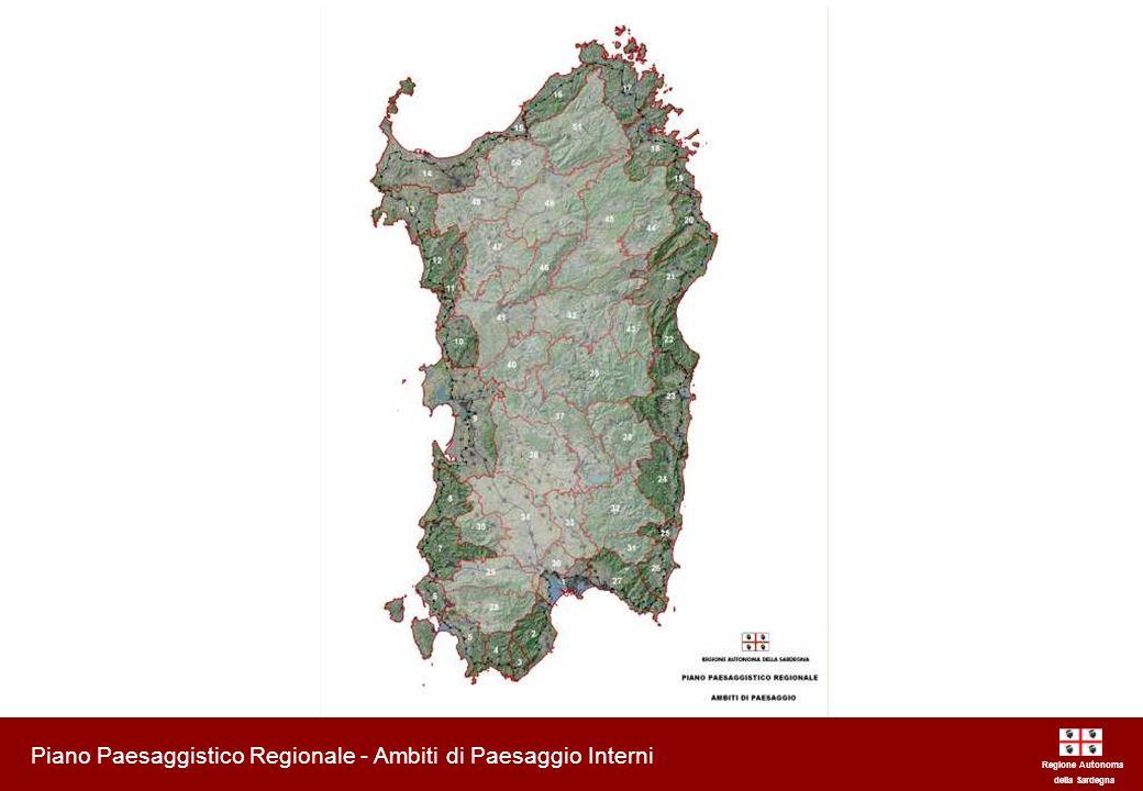 Piano Paesaggistico Regionale - Ambiti di Paesaggio Interni