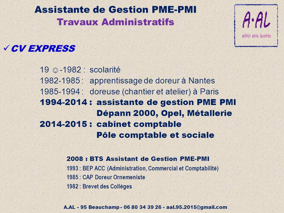 Assistante de gestion pme pmi ppt video online t l charger - Cabinet de gestion paris ...