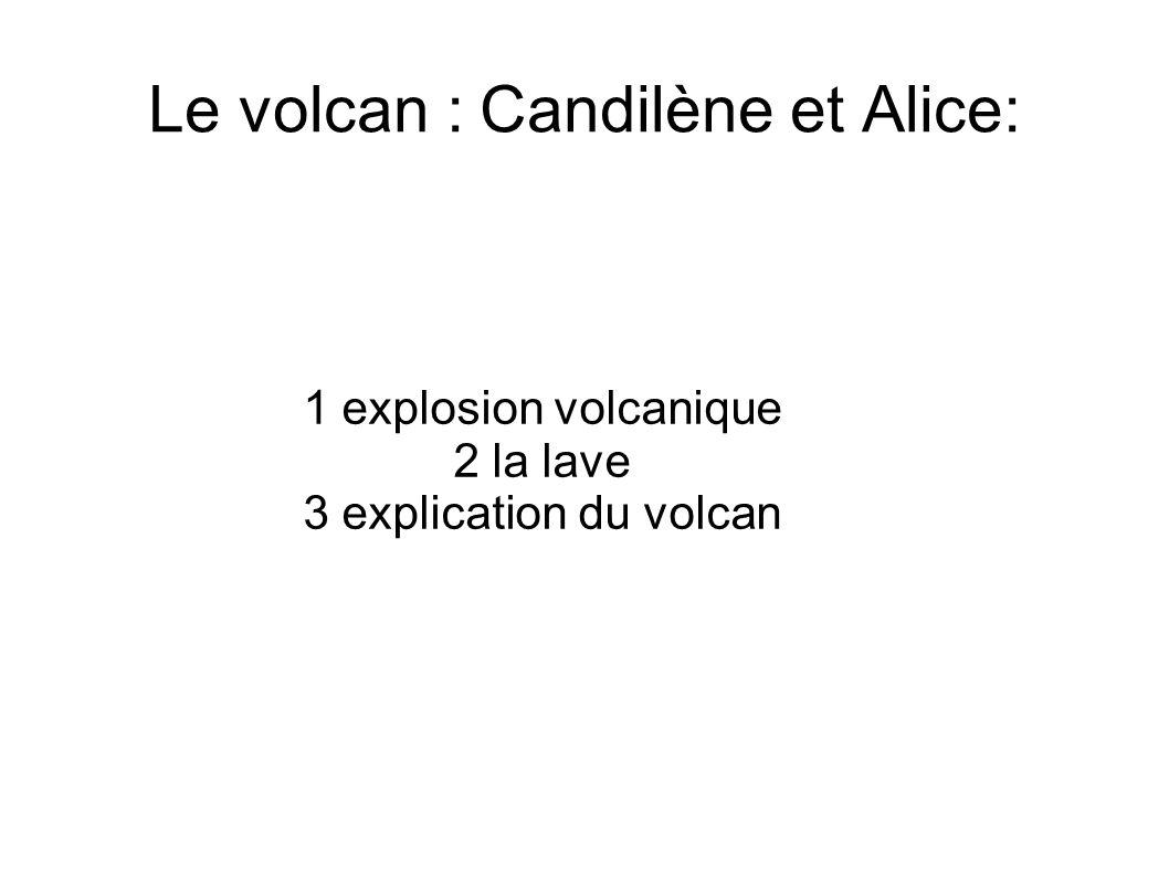 Le volcan : Candilène et Alice: