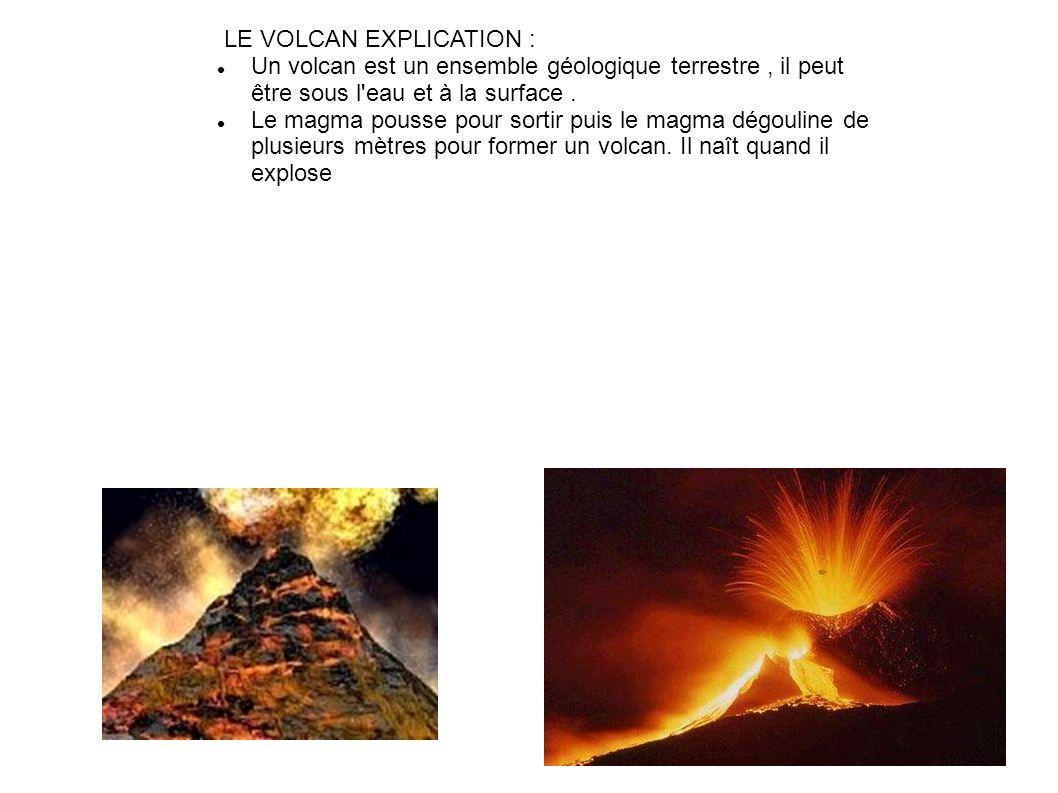 LE VOLCAN EXPLICATION :