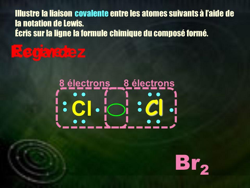Cl Cl Br2 Ecrivez Regardez 8 électrons 8 électrons