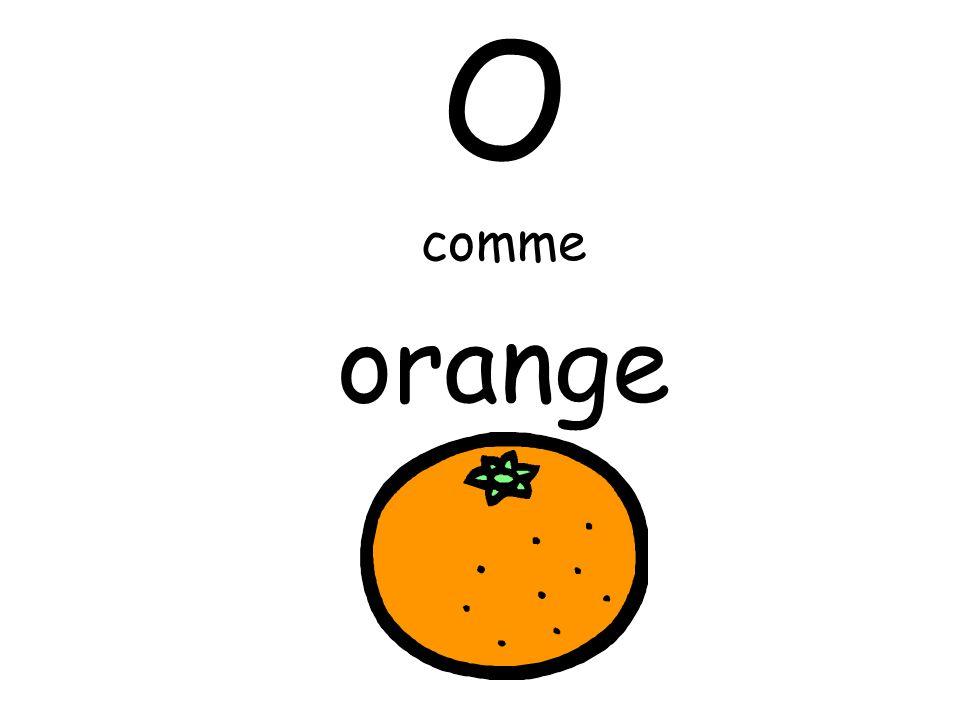 O comme orange