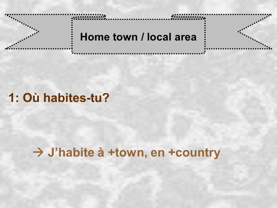  J'habite à +town, en +country