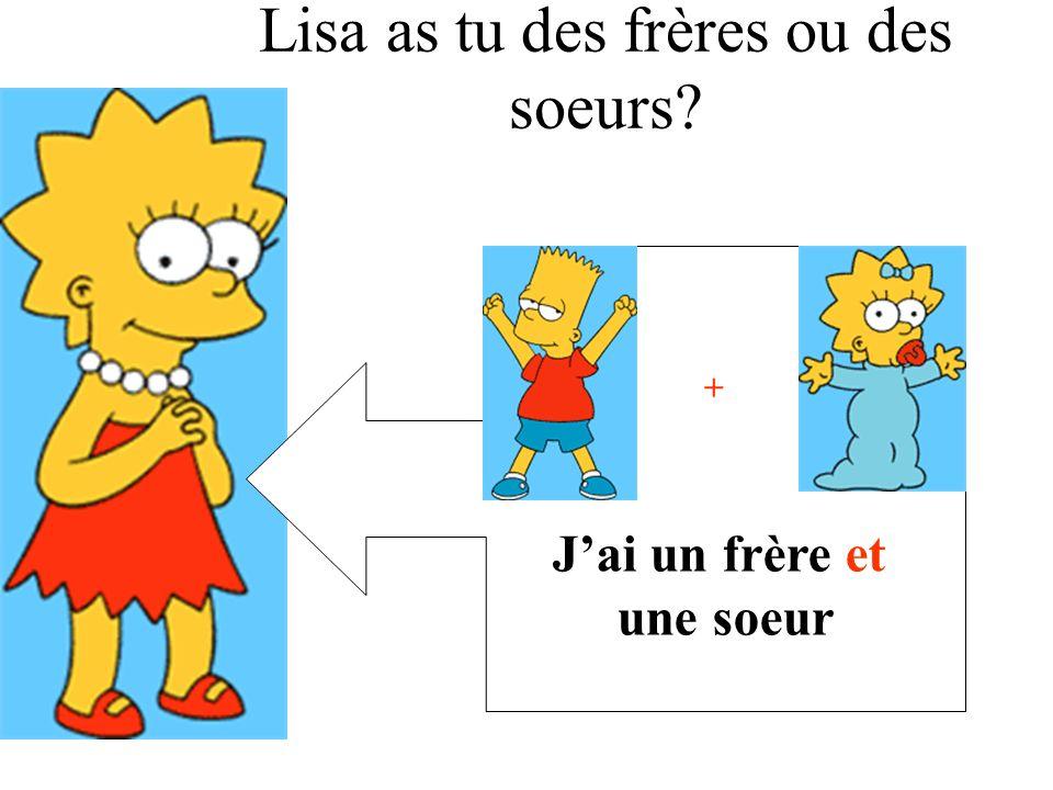 Lisa as tu des frères ou des soeurs