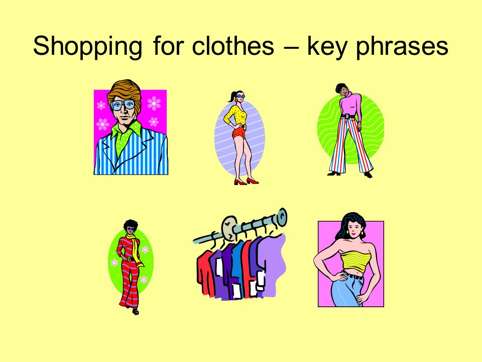 Shopping for clothes – key phrases