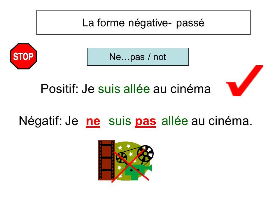 Positif: Je suis allée au cinéma