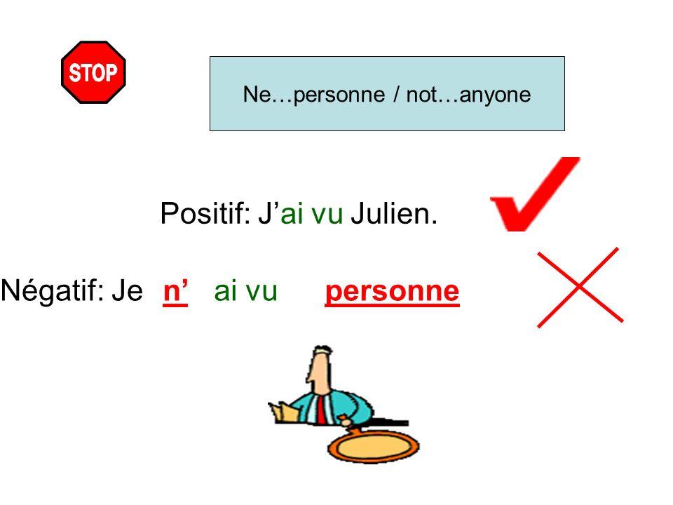 Positif: J'ai vu Julien.