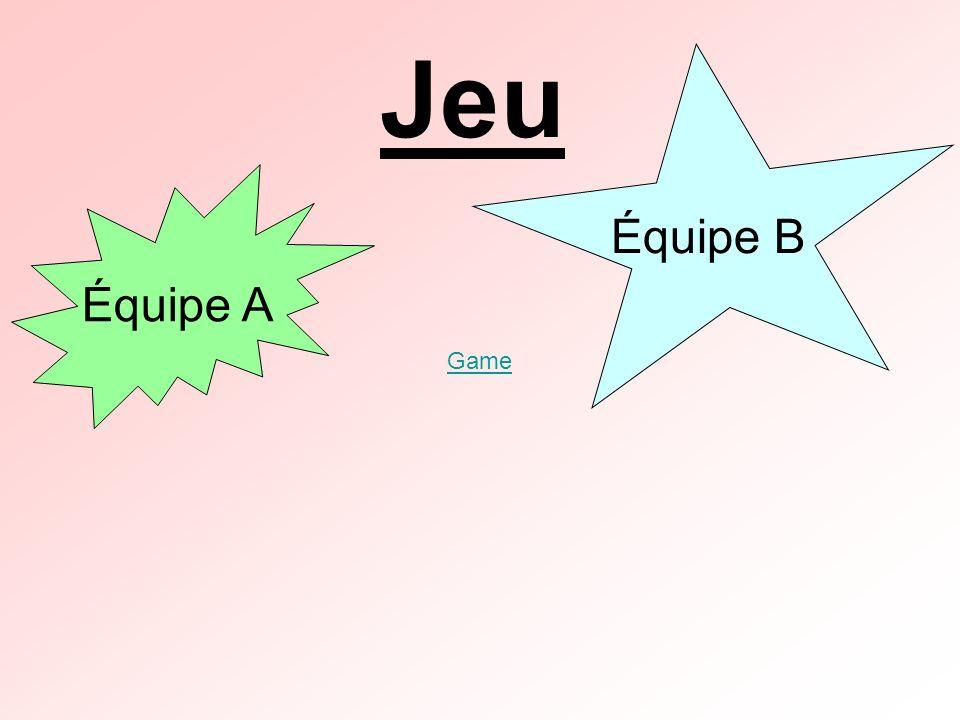Jeu Équipe B Équipe A Game