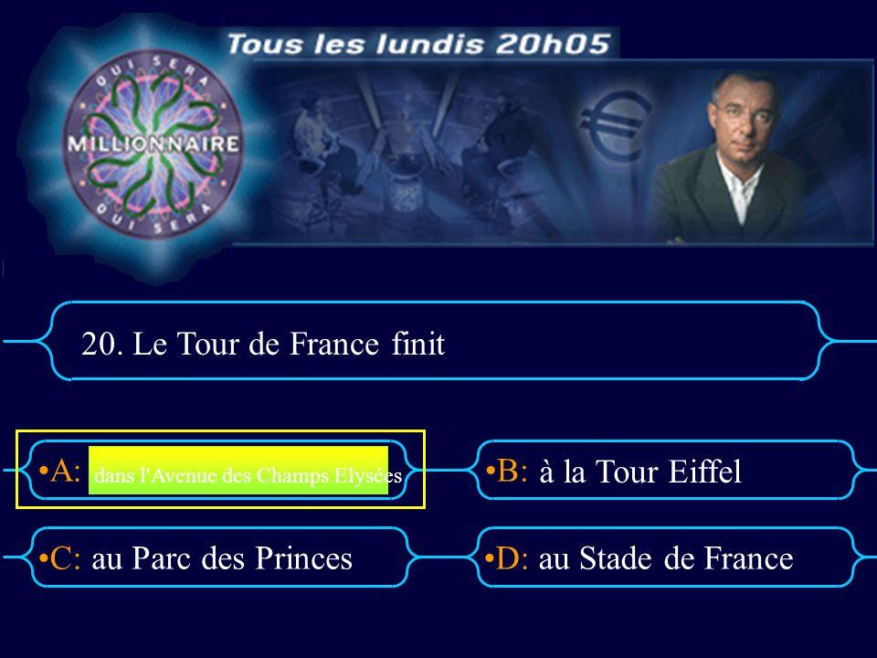 20. Le Tour de France finit à la Tour Eiffel au Parc des Princes