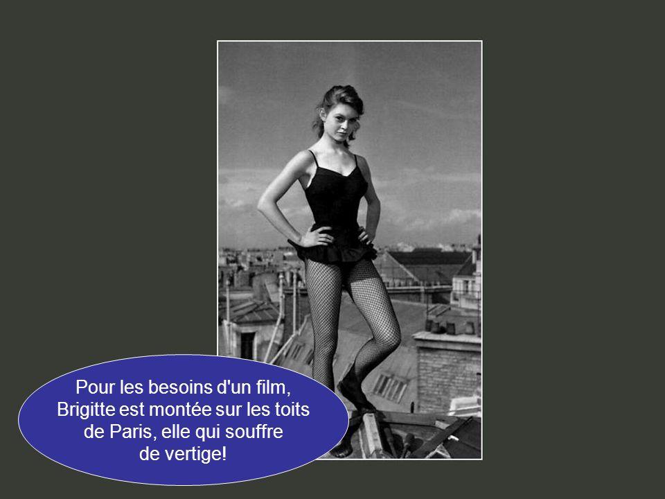 Pour les besoins d un film, Brigitte est montée sur les toits