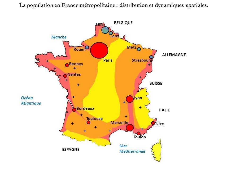 La population en France métropolitaine : distribution et dynamiques spatiales.