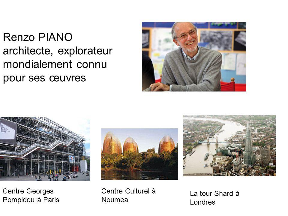 Renzo PIANO architecte, explorateur mondialement connu pour ses œuvres